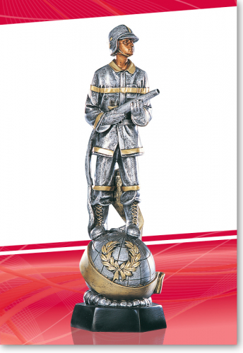Feuerwehrmann 40cm mit Schlauch Figur mit Gravur