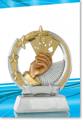Poker Trophy Pokal 13 cm mit Gravur