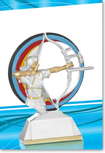 Bogenschießen, Bogenschützin Trophy 15cm mit Gravur