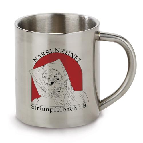 Fototasse Edelstahltasse bedruckt, Werbetasse mit Logo, Kaffeebecher mit  Druck, Kaffeetasse bedrucken