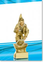 Angler Figur 20cm mit Gravur