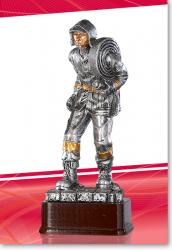 Feuerwehrmann 21cm mit Schlauch Figur mit Gravur