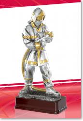 Feuerwehrmann mit Schlauch Figur mit Gravur