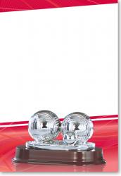 Boule Petanque Trophy 11cm mit Gravur